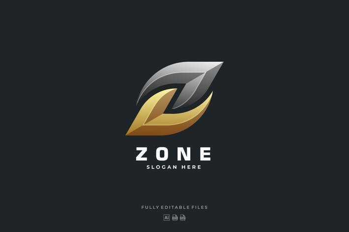 Abstract Bold Letter Z Luxury Logo