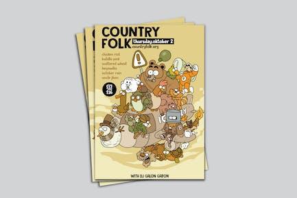 Country Folk Poster RG