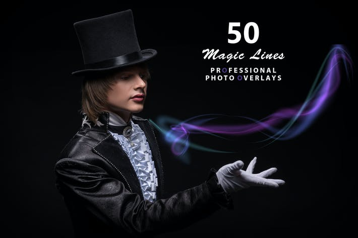 Thumbnail for 50 Magic Lines Photo Overlays