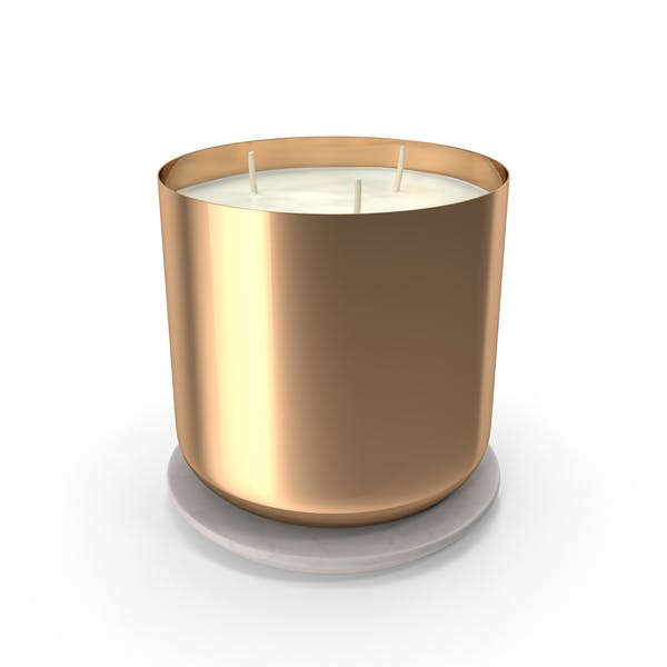 Scented Candle Big Metal Gold