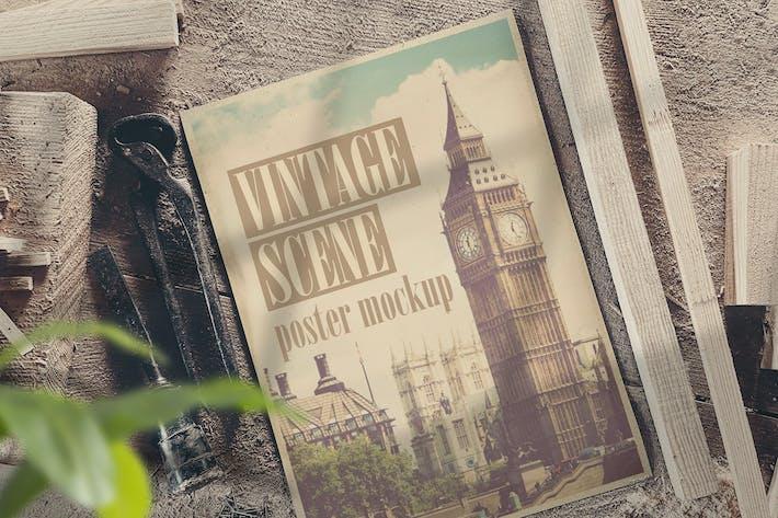 Old Scene Poster Mockup