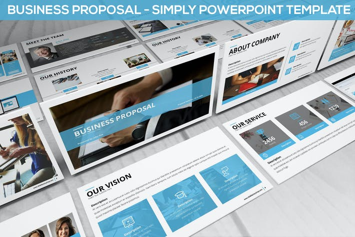 Thumbnail for Simply Business Proposal - Powerpoint Template