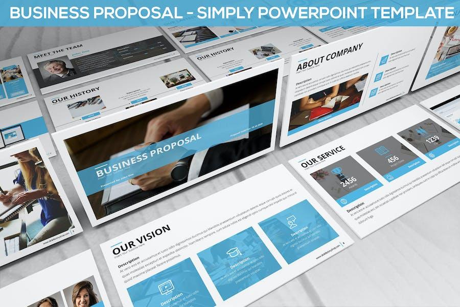 Просто бизнес-предложение - Powerpoint Шаблон