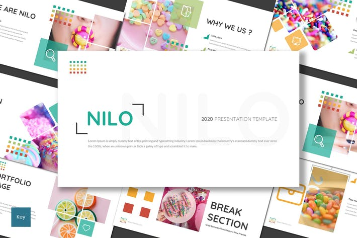 Thumbnail for Nilo - Шаблон Keynote сладостей