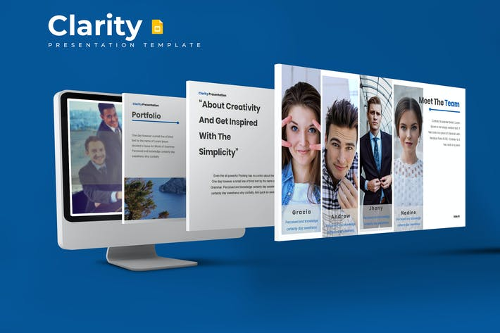Thumbnail for Clarity - Google Slides Template
