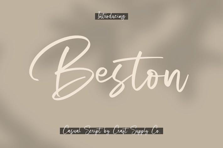 Thumbnail for Beston - Casual Script Font