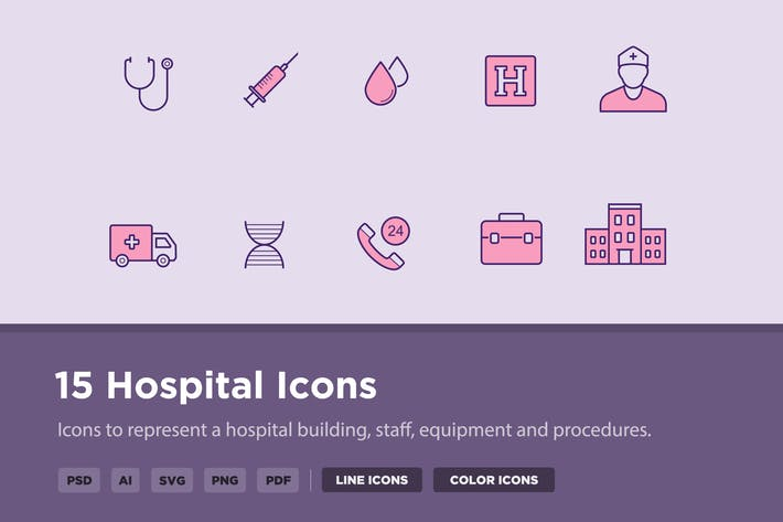 Thumbnail for 15 Hospital Icons