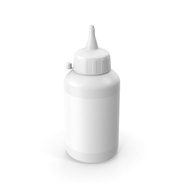Glue Bottle White