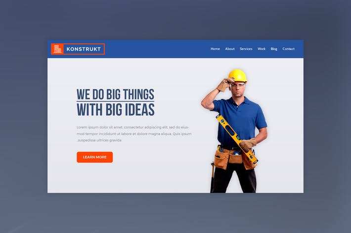 Thumbnail for Konstrukt - Construction Website Hero Banner