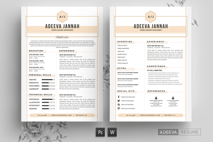 Thumbnail for Simple Resume Template Jannah