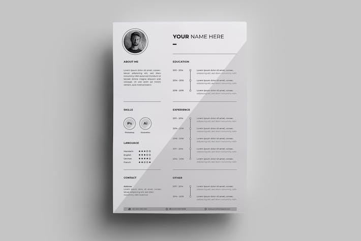 Thumbnail for Resume Design Templates.06