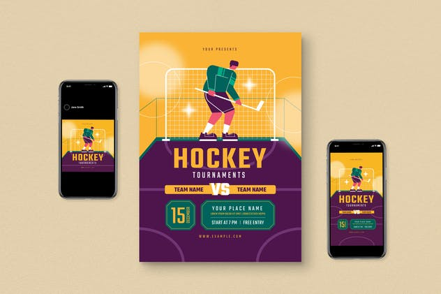 Hockey Competition Flyer