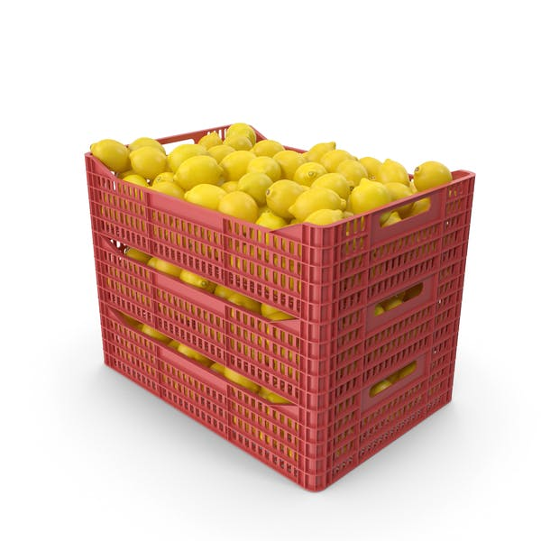 Plastic Crates with Lemons