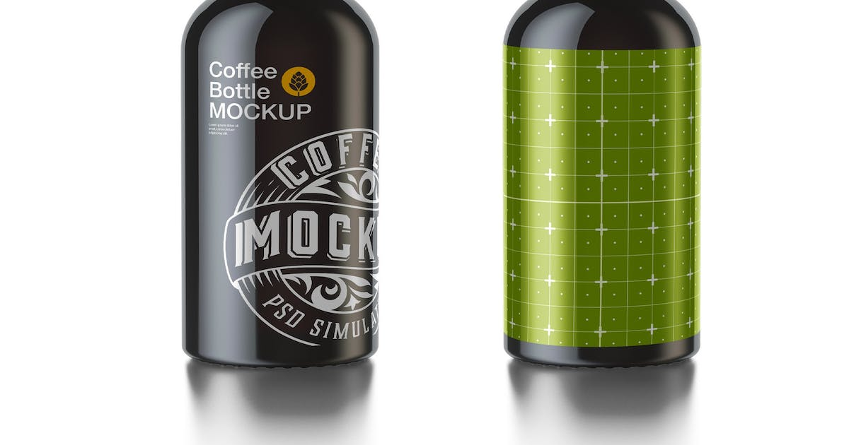 Download Cold Brew Coffee Bottle Mockup by roverto007