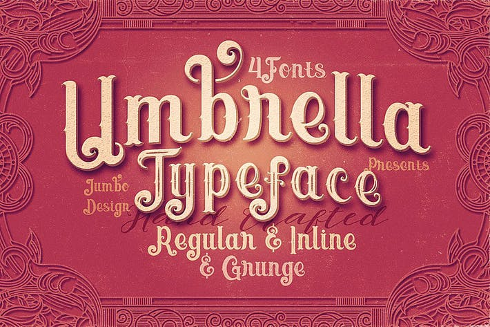 Thumbnail for Umbrella - 4 Display Fonts