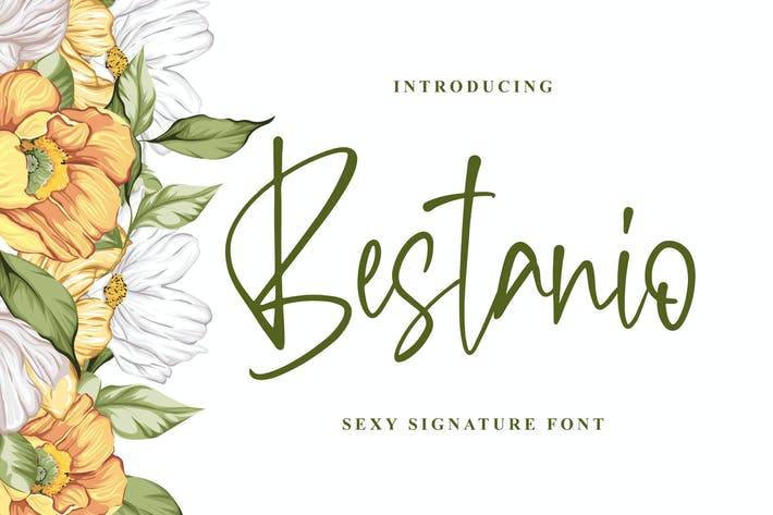Thumbnail for Bestanio - Sexy Signature Font