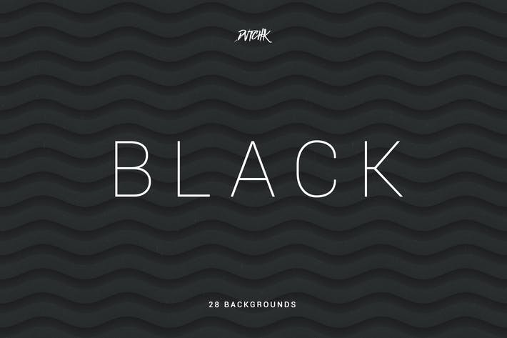 Thumbnail for Black | Soft Abstract Wavy Backgrounds