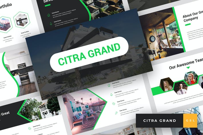 Thumbnail for Citra Grand - Real Estate Google Slides Template