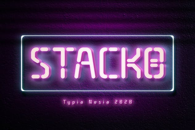 Stacko Neon Font