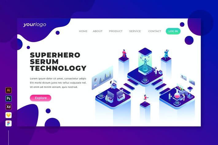 Thumbnail for Superhero Serum Technology - Landing Page