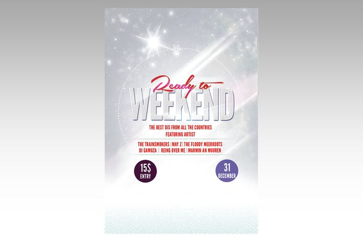 Thumbnail for Ready to Weekend Flyer Poster