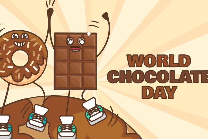 Thumbnail for World Chocolate Day With Donut And Chocolate Bar