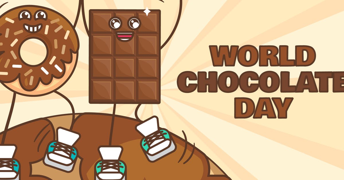 Download World Chocolate Day With Donut And Chocolate Bar by barsrsind