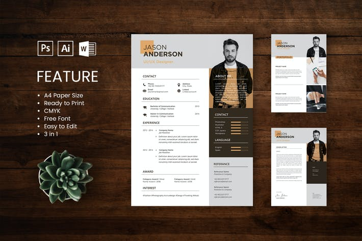 Thumbnail for Professional CV And Resume Template Jason