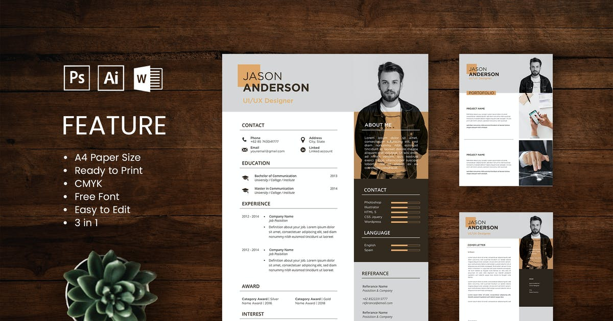 Download Professional CV And Resume Template Jason by WPBootstrap