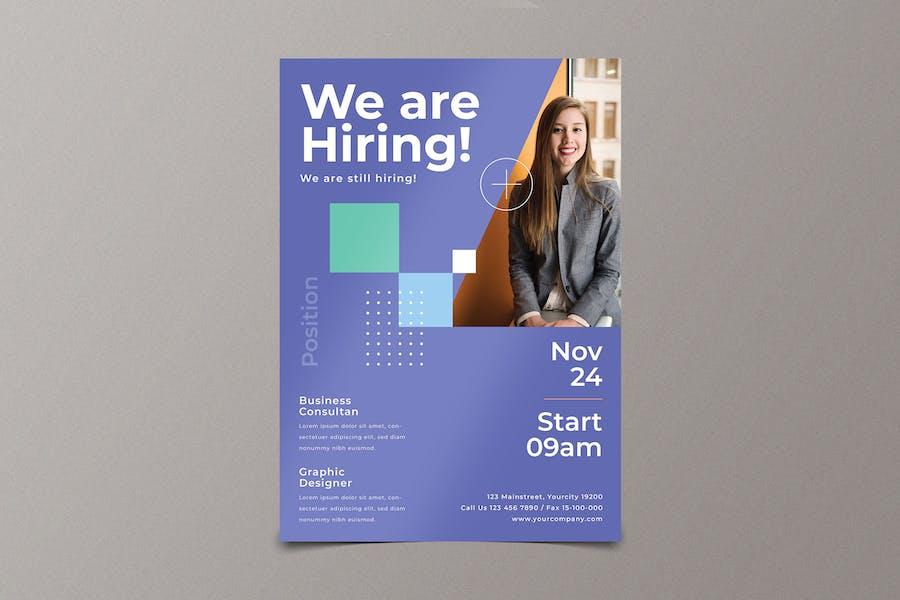 Modern Hiring Job Flyer