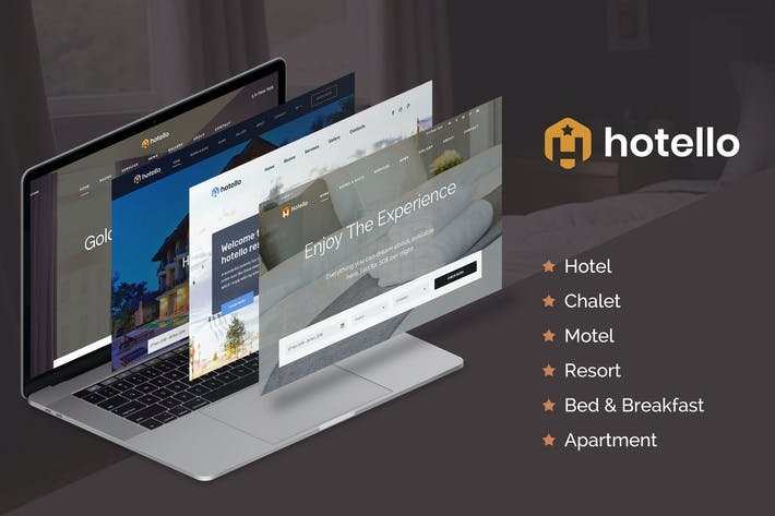 Thumbnail for Hotello - Hotel WordPress theme
