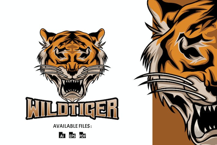Thumbnail for Wild Tiger Sport and Esport Logo