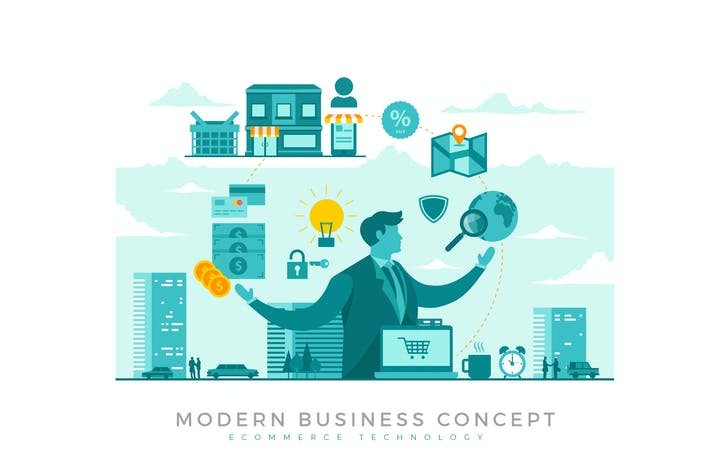 Thumbnail for E-Commerce Modern Business Concept