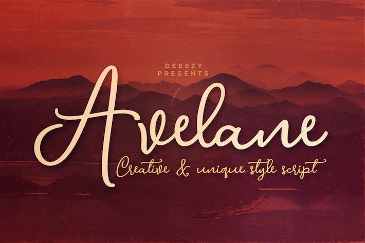 Thumbnail for Avelane Script Font