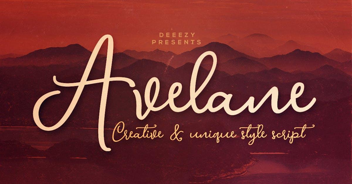 Download Avelane Script Font by cruzine