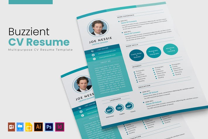 Thumbnail for Blue Creative | CV & Resume Template