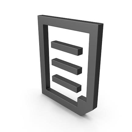 Archivo de documento de símbolo negro