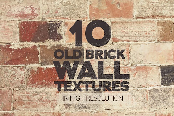 Thumbnail for Old Brick Wall Textures x10