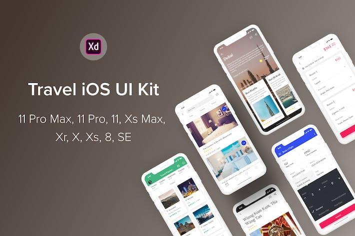 Thumbnail for Travel iOS UI Kit (Adobe XD)