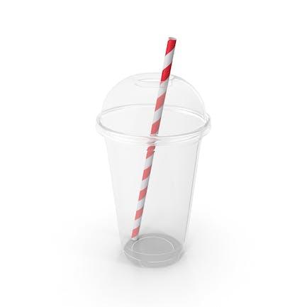 Vaso de plástico y pajita