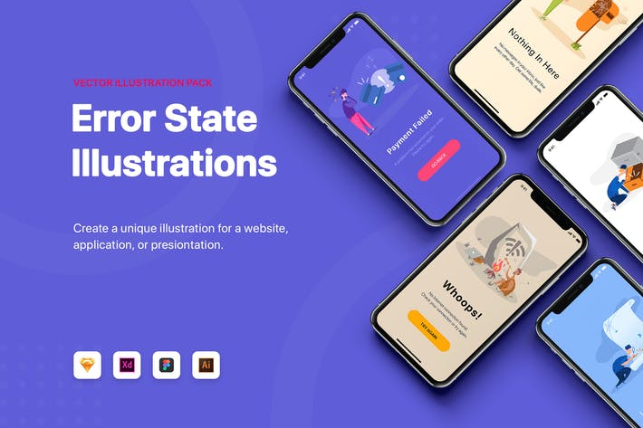 Cover Image For Error State Illustration Pack