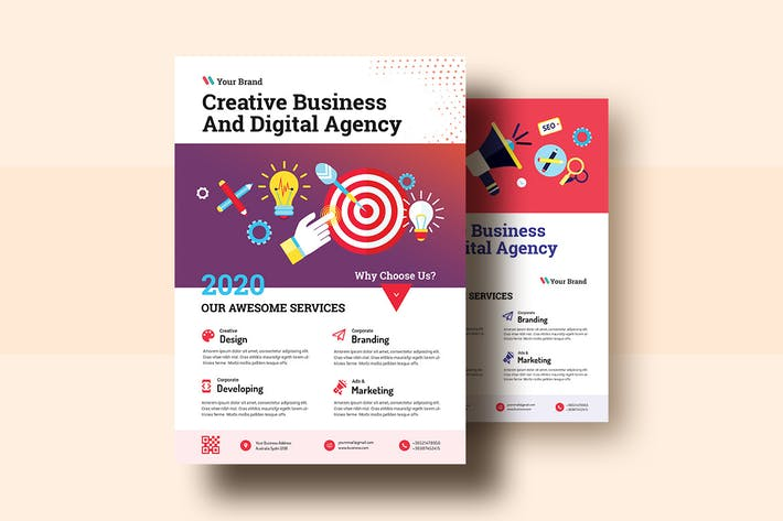 Thumbnail for Digital Agency & Business AD Flyer V-27