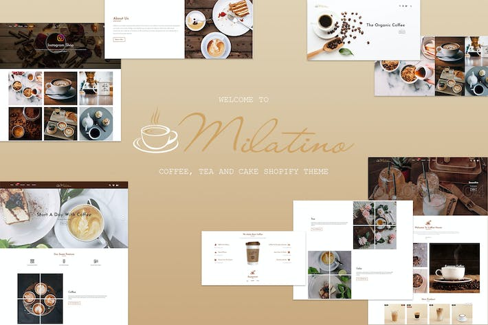 Thumbnail for Milatino - Coffee & Tea and Cake Shopify Theme