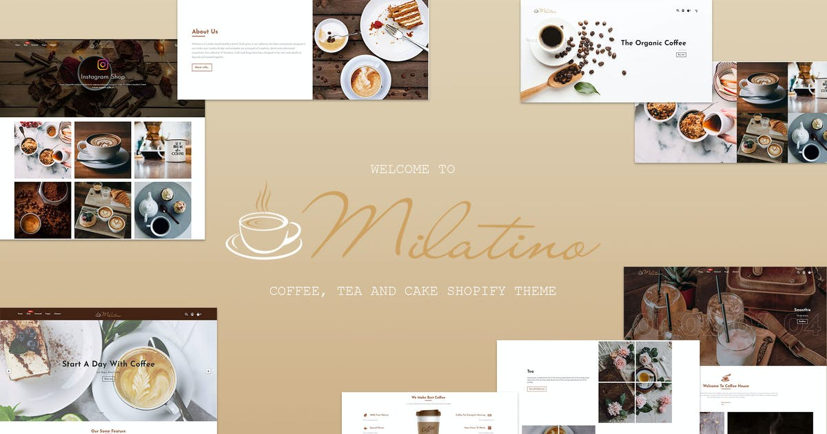 Download Milatino - Coffee & Tea and Cake Shopify Theme by ShopiLaunch