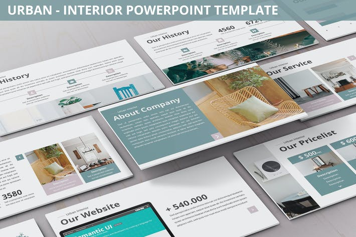 Cover Image For Urban - Interior Powerpoint Template