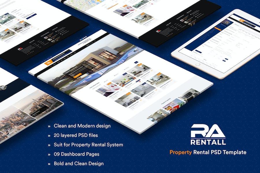 RentAll - Property Rental PSD Template