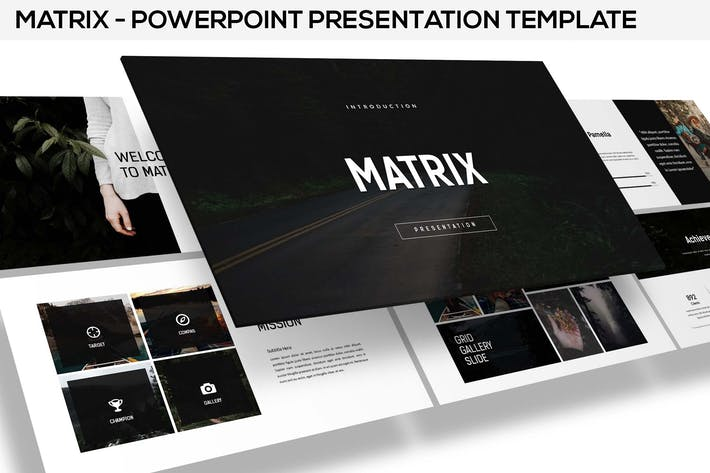 Thumbnail for Matrix - minimal powerpoint presentation