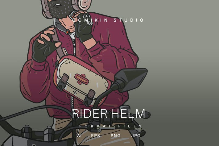 Thumbnail for Rider Helm Illustration