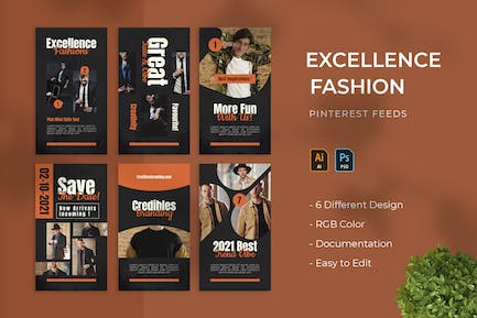 Excellence Fashion | Pinterest Cover