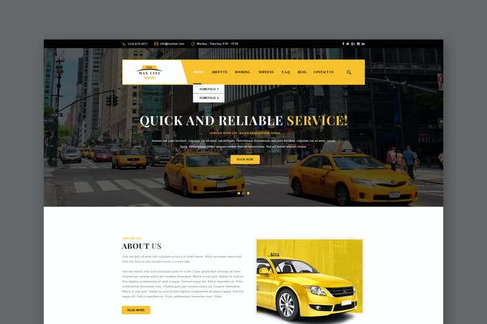 Thumbnail for City Taxi PSD Template